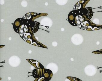 Cotton + Steel – Sleep Tight by Sarah Watts, Night Owl - Neutral (Metallic)