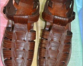 Leather Jesus sandals for men , man sandals , free shipping fisherman sandals for men, genuine leather sandals men