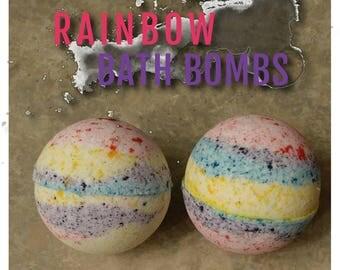Rainbow Colored Bath Bomb Bath Fizzy