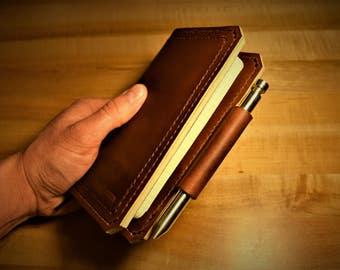 Moleskine Pocket Notebook Cover / Full Grain Leather