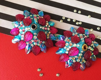 Turquoise Blue and Hot Pink Pasties