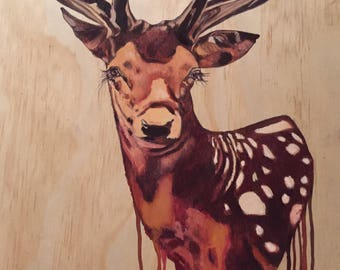 Dripping deer head.
