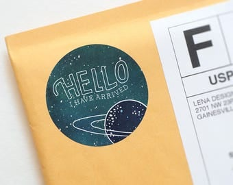 Packaging Stickers - Galaxy Sticker - Happy Mail Stickers - Fun Stickers - Snail Mail Stickers - Product Packaging - Packaging Design