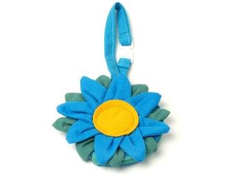 Flower Coin Wristlet - Blue