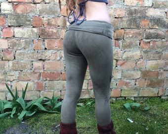 organic leggings in forest green size m