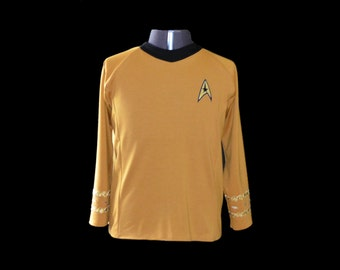 Star Trek TOS tunic Men's Top Custom Costume Replica Braiding
