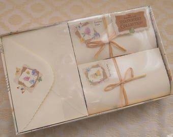 Vintage Writing Set, Edwardian Lady, Flora Fauna, Stationery Set, Correspondence Set, Retro Note Set, Paper And Envelopes, Gift For Her