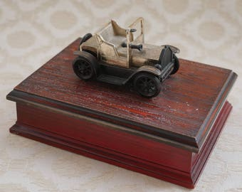 Playing Card Box, Playing Card Holder, Vintage Model Car, Plastic Wood Effect, Double Pack Card Box, Card Holder, Card Deck Box, Small Box