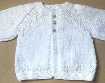 New Hand Knitted Baby Sweater/cardigan 3-6 months
