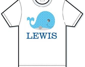Blue Whale personalized shirt