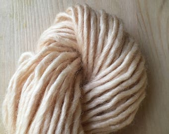 Natural dyed Wool/Bamboo yarn single - Hawthorn berries 50g