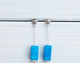 Howlita earrings - retro inspired -  gifts for her / valentine's gift