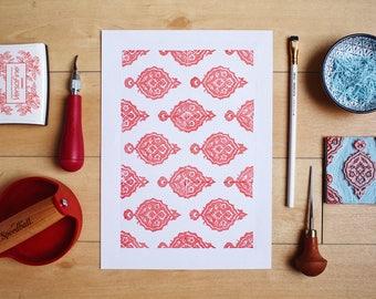 Traditional Turkish Tile - Original Handprint