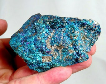 "Peacock Ore 3"" Chalcopyrite Bornite Crystal Specimen Healing Therapy Reiki Metaphysical Powerful Meditation - Mexico"