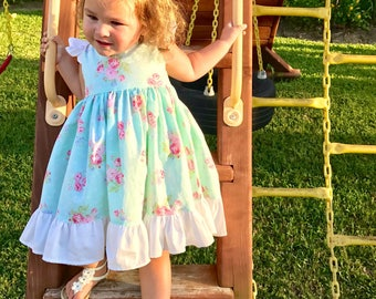 Sweet Rose Flutter Dress toddler/girls