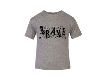 Grey 'Brave' T-Shirt / Baby Grow