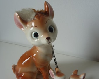 DOE and its two small ceramic, 1960s vintage
