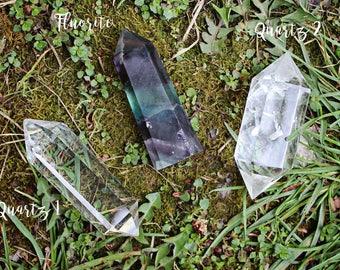 Double Terminated Quartz Crystal Points