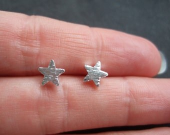 Silver plated star earrings, tiny stars earrings, wish upon a stars, wishing star, tiny earrings, star studs, star jewellery, gift for her