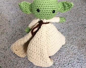 Yoda crochet Lovey - Security Blanket - Star Wars Blanket