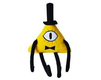 Gravity Falls Yellow Bill Cipher Plush Toy Handmade