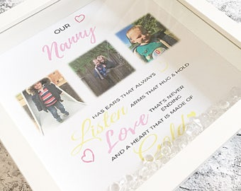 Nanny Frame Gift For Mothers Day Granny Grandma Personalised Meaningful Quote Birthday Nan
