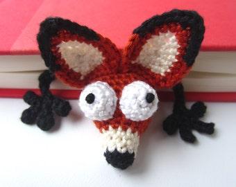 Amigurumi Crochet Fox Bookmark
