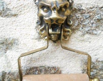 Vintage French Brass Roll Holder - Reclaimed.