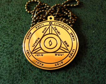 Fourth Pentacle of Saturn, Pentacle of Solomon necklace