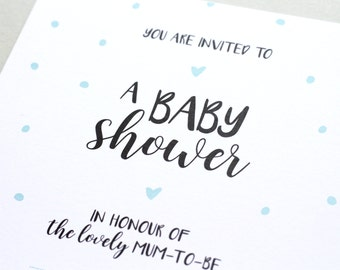 Baby Shower Invitations - x10 - Polka Dots - Gender Neutral