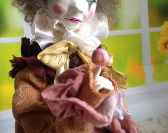 Collectible doll Pierrot