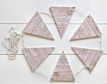 SHIPLAP Wood Bunting Flags