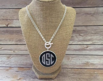 Monogram Toggle Necklace