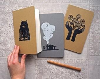 Dandelion Hands Printed Moleskin Journal