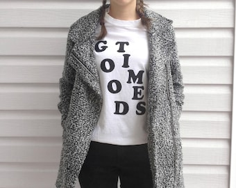 Good Times Graphic Tee T-Shirt Handprinted