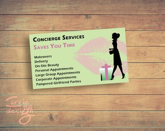 Concierge Services for Mary Kay, Avon, etc. Printable, download