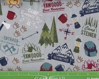 Boy Scout Camping,on Gray,Riley Blake Fabrics