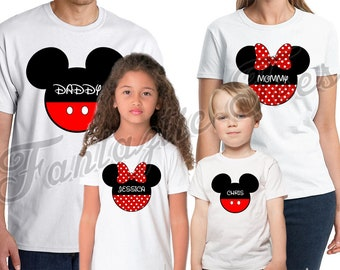 Mickey Mouse Birthday Shirt Add Name & Age Mickey Custom Birthday Party TShirt The Mouse 01