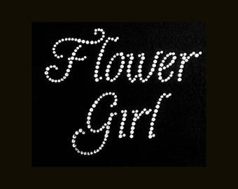 Wedding, Flower Girl (5.5x5.5) Rhinestone Bling T-Shirt