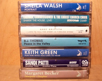 Vintage Christian Music Cassettes from 1960's to 1990's
