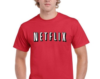 Netflix Movie Night T-Shirt Netflix and Chill Funny Humor T-Shirt Unisex