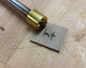 """1/2"""" Round Custom Artwork Branding Iron"""