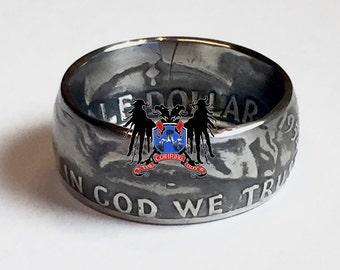 90% Silver Benjamin Franklin half-dollar coin ring