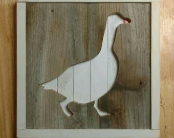 Nursery animal wall decor - Goose - Reclaimed Wood - Barnwood - Pallet wall art - Hippo - Giraffe - Whale - Moose - Ladybug - Elephant
