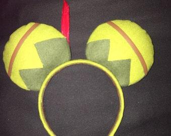 NEW***Peter Pan Ears, Peter Pan Mickey Ears, Disney Inspired Peter Pan Custom Minnie Ears