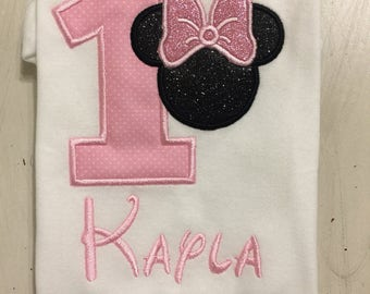 Minnie Mouse 1st First 2nd Second Birthday Shirt // Minnie Mouse Shirt // Monogrammed Birthday Shirt // Minnie Mouse Shirt for girls //