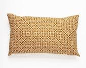 Nila Handscreen Printed Cushion - Golden Yellow 30x50cm