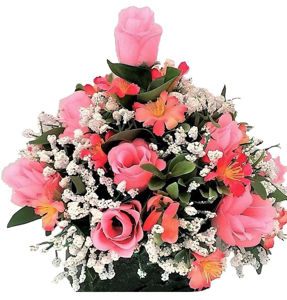 Pink rose buds silk flowers etsy silk flower arrangement faux designsbydiana2016 mightylinksfo