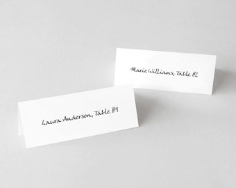 Printable Simple Text Place Cards or Escort Cards