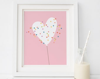 SALE -pdf  Baby girl nursery decor, Baby girl nursery wall art, Nursery wall art girl, Nursery decor girl, Girls room decor, PINK HEART B